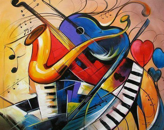 Surrealiste Peinture Abstraite Art Musique